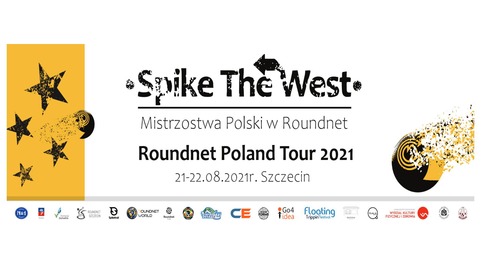 Grafika Spike The West Mistrzostwa Polski w Roundnet 2021r. 2000x780px